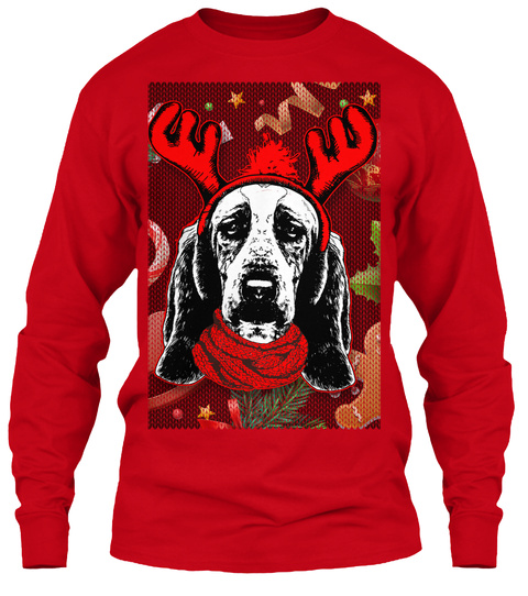 Basset Hound Ugly Christmas Sweater Products From Christmas Animals