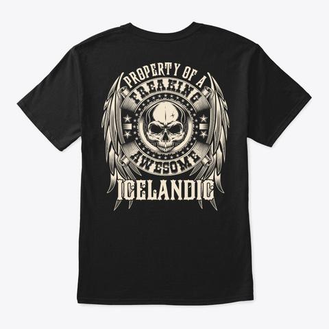 Awesome Icelandic Shirt Black T-Shirt Back