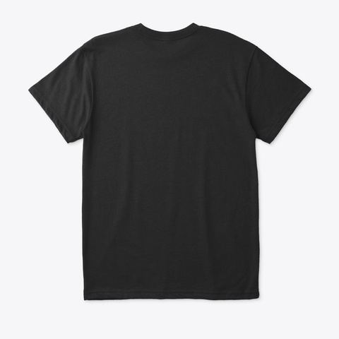 Friendly Lone Wolf Black T-Shirt Back