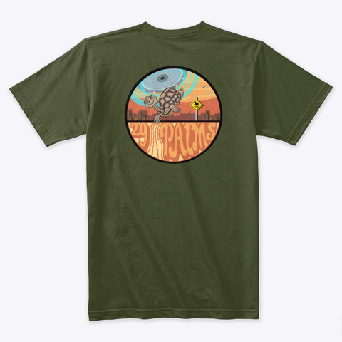 29 Palms Ufo Abduction Shirts Military Green T-Shirt Back