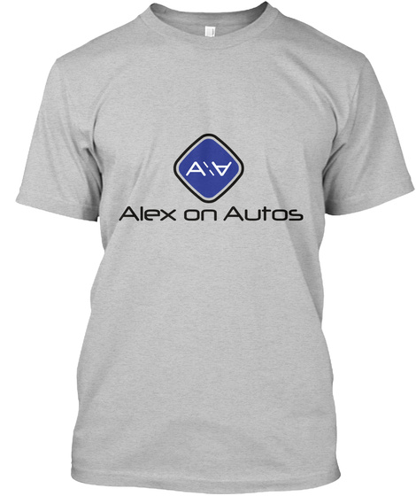 Alex On Autos Light Heather Grey  T-Shirt Front