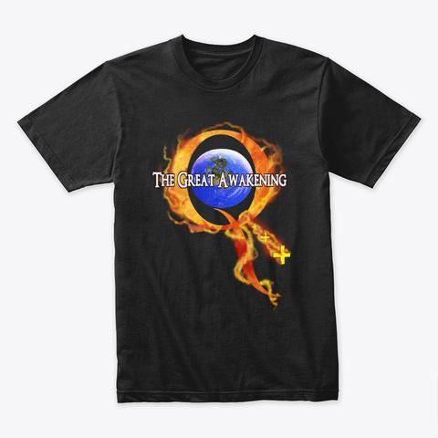 Q Anon The Great Awakening  Black T-Shirt Front