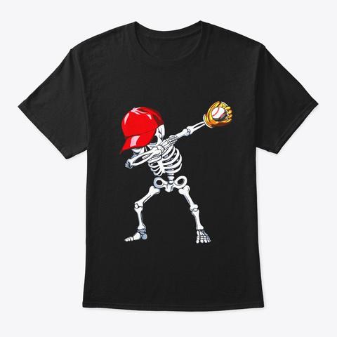 Halloween Boys Mens Baseball Apparel Black T-Shirt Front