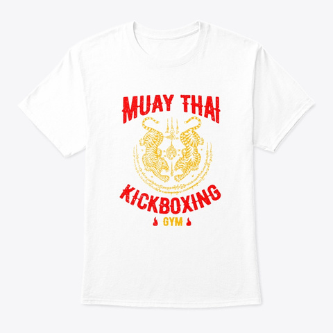 Tiger Muay Thai Kickboxing Gym Mma Train White T-Shirt Front