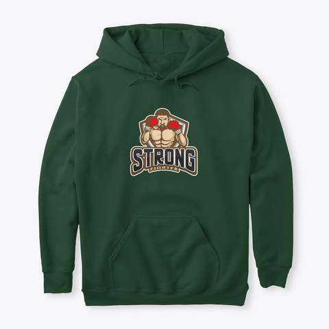 Strong Fighter Forest Green T-Shirt Front