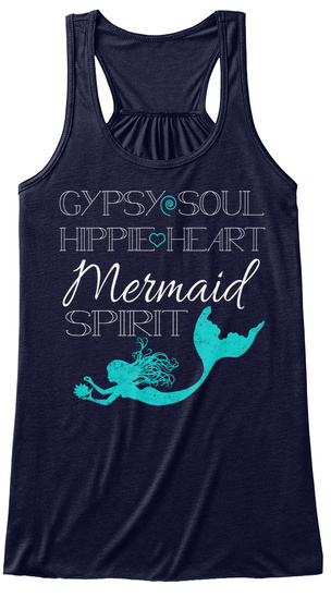 Gypsy Soul Hippie Heart Mermaid Spirit Midnight T-Shirt Front