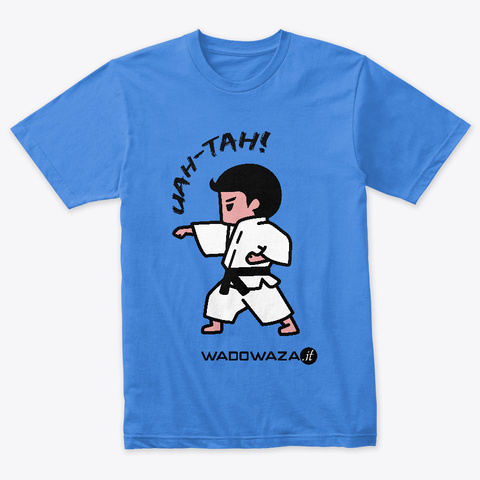 Uah Tah! By Wado Waza   For Adults Vintage Royal T-Shirt Front