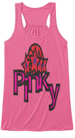 Pinky Women's Flowy Tank Neon Pink T-Shirt Front