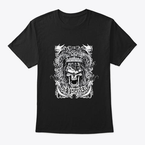 Devourer   Awesome Goth Lover Gift Black T-Shirt Front