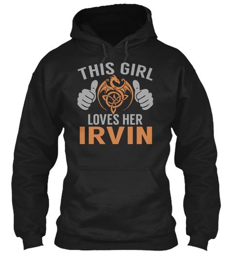 Loves Irvin   Name Shirts Black T-Shirt Front
