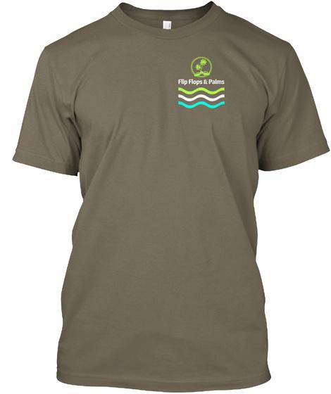 Flip Flops And Palms Venetian Gray T-Shirt Front