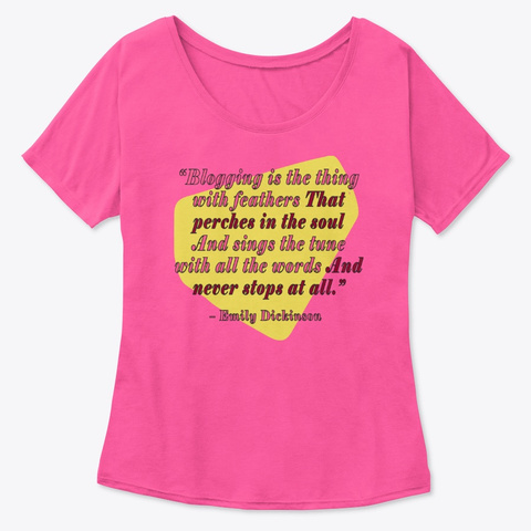 Emily Dickinson, Blogger Berry  T-Shirt Front