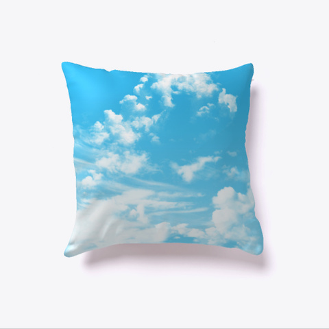 Aviation Clouds In The Sky  Light Blue T-Shirt Back