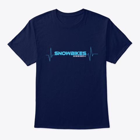 Heartbeat Snowbikes Unisex Classic Tee Navy T-Shirt Front