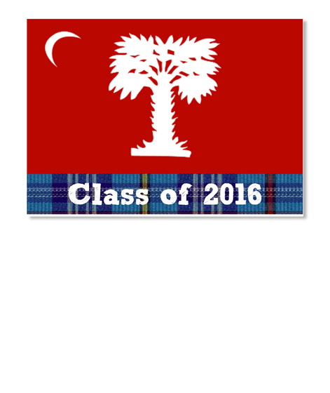 Class Of 2016 White Sticker Front