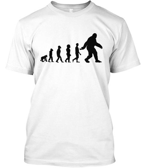 Bigfoot Evolution White T-Shirt Front
