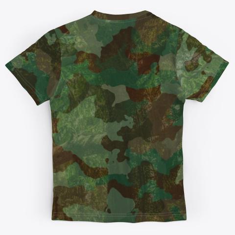 Woodland Camo Unisex Jersey Standard T-Shirt Back