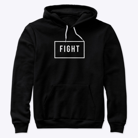 Fight Black T-Shirt Front
