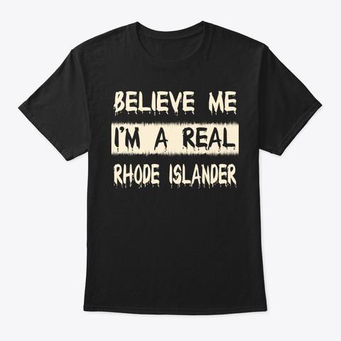 Real Rhode Islander Tee Black T-Shirt Front