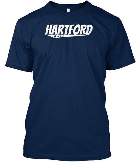 Hartford Retro Comic Book Style Logo Navy T-Shirt Front