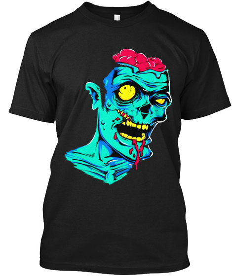 Zombie Attack #10 Black T-Shirt Front