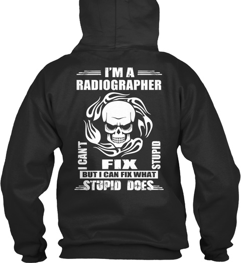 Radiographer Jet Black T-Shirt Back