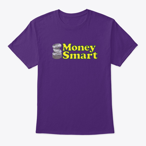 Money Smart Cooper Stack 2 Purple T-Shirt Front