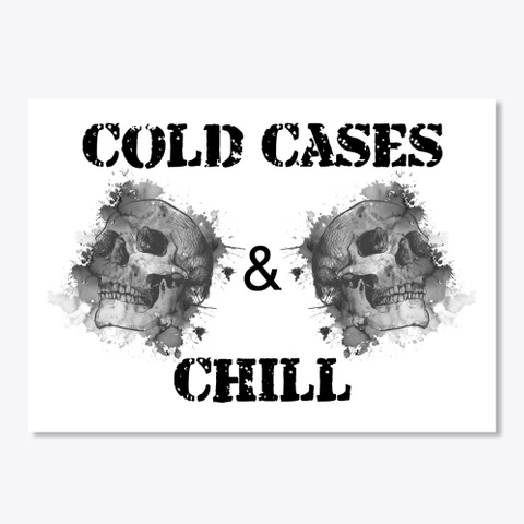Cold Cases Sticker  White T-Shirt Front