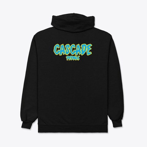 Cascade Pedals Apparel Black T-Shirt Back