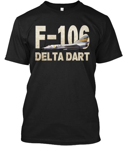 F 106 Delta Dart Black T-Shirt Front