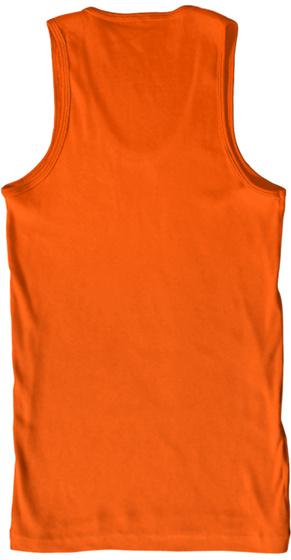 K9 Kastle X Betty Rose Adult Tank Orange T-Shirt Back