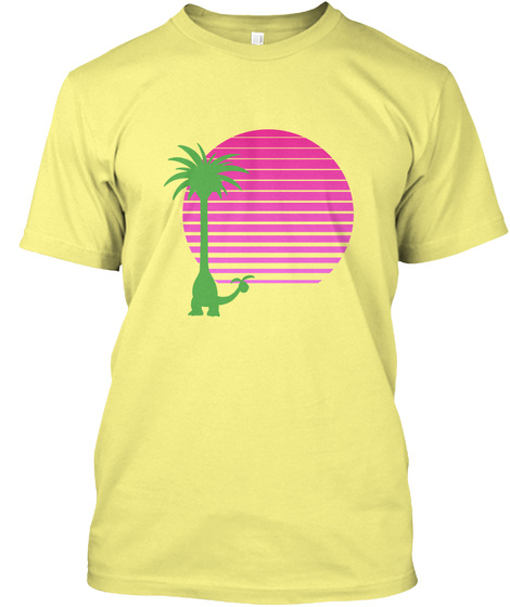 O/ I Lemon Yellow  T-Shirt Front