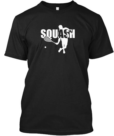 Stylish Squash Black T-Shirt Front