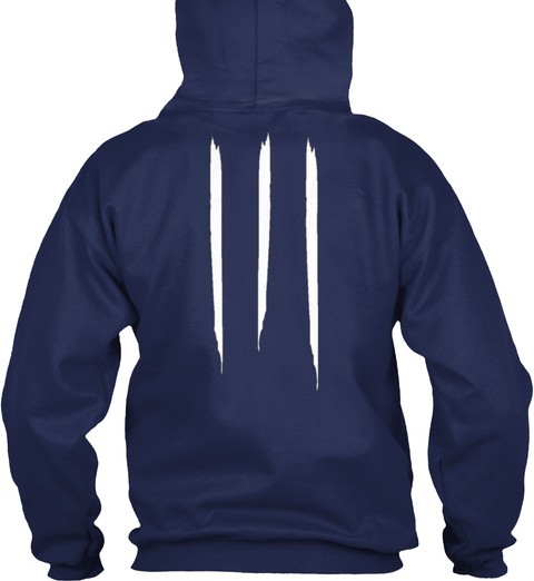 "Promotion Hoodie ""Apricot"" Navy T-Shirt Back"