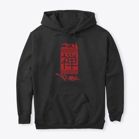 Zen Real   Flagship Hoodie Black T-Shirt Front