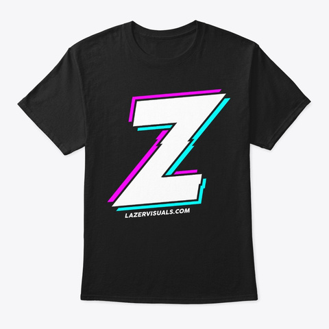 Big Z Lazer Tee Black T-Shirt Front