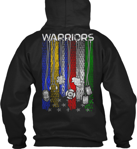 Warriors Black Sweatshirt Back