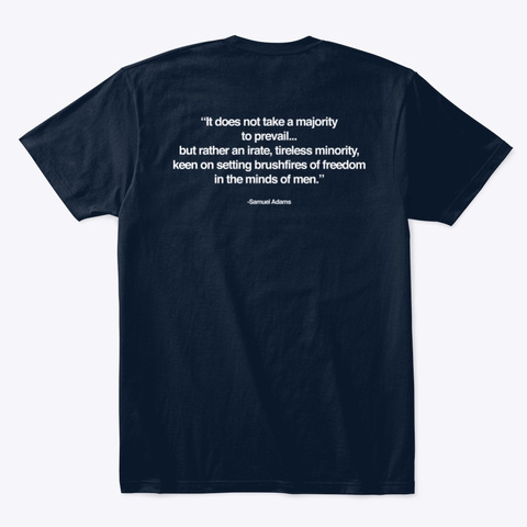 Quote   Logo Tee New Navy T-Shirt Back