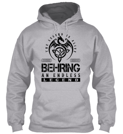 Behring   Legends Alive Sport Grey T-Shirt Front