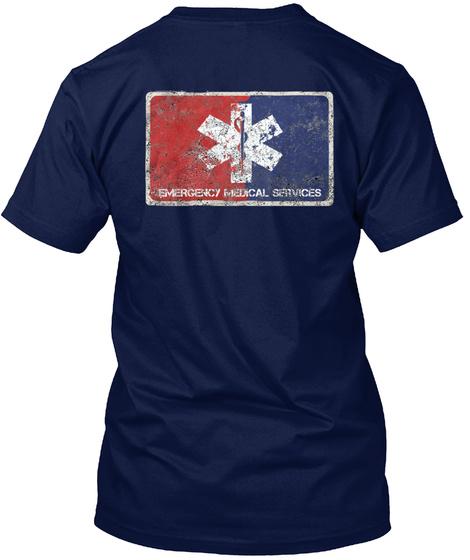 Emergency Medical Services Navy T-Shirt Back