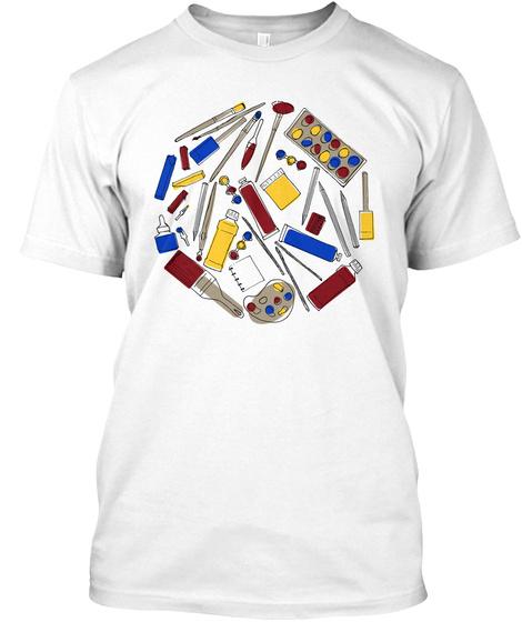 Art Supplies Tee White T-Shirt Front