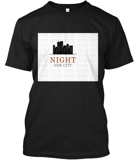 Night For City Black T-Shirt Front