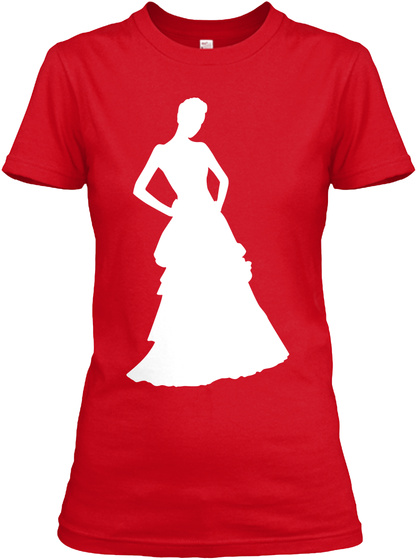 Red   White   Classy Silhouette Red T-Shirt Front