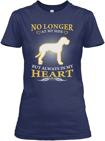 Great Dane Always In My Heart Shirts Navy T-Shirt Front