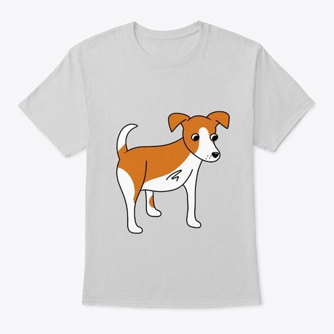 Three Legged Dog Tripod Light Steel T-Shirt Front