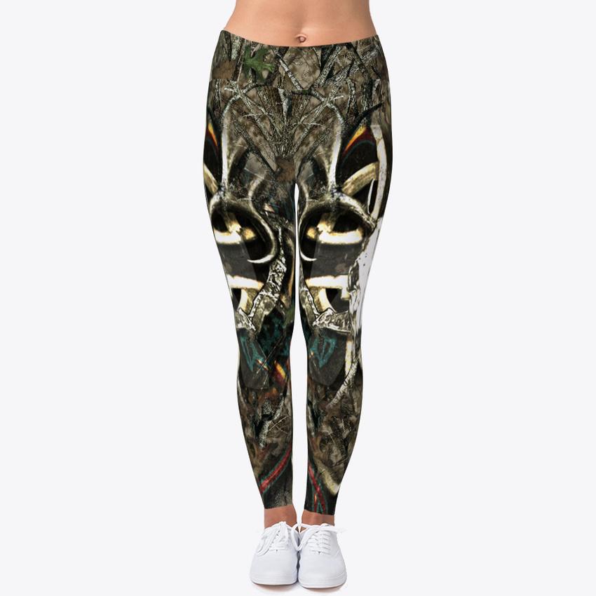 b09bea7fb1efd Womens Deer Hunting Camo Women's Print Fitness Stretch *Leggings* Yoga Pants
