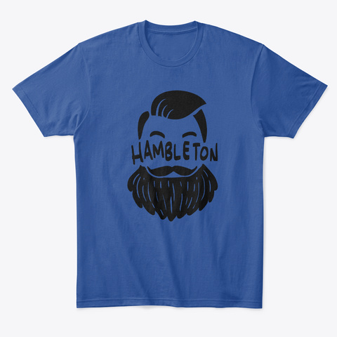 Chess Hambleton Beard Tee Deep Royal T-Shirt Front