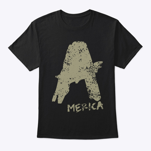America With No A Holes™  Dstressed (Mp) Black áo T-Shirt Front