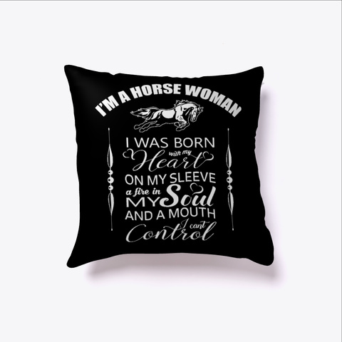 Horse Women Horse Animal Lover  Black T-Shirt Front