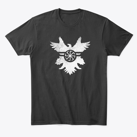 Coat Of Arms Of Slavia Black T-Shirt Front